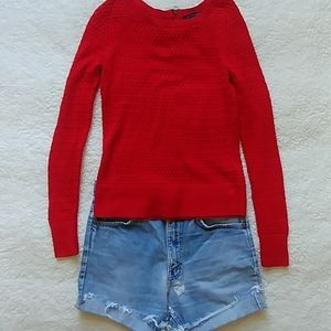 Bundle XS sweater and thrashed Levis cutoffs